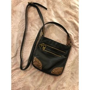 Bags - Faux Leather Crossbody Bag